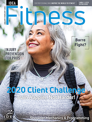 January 2020 <i>IDEA Fitness Journal</i> Quiz 3