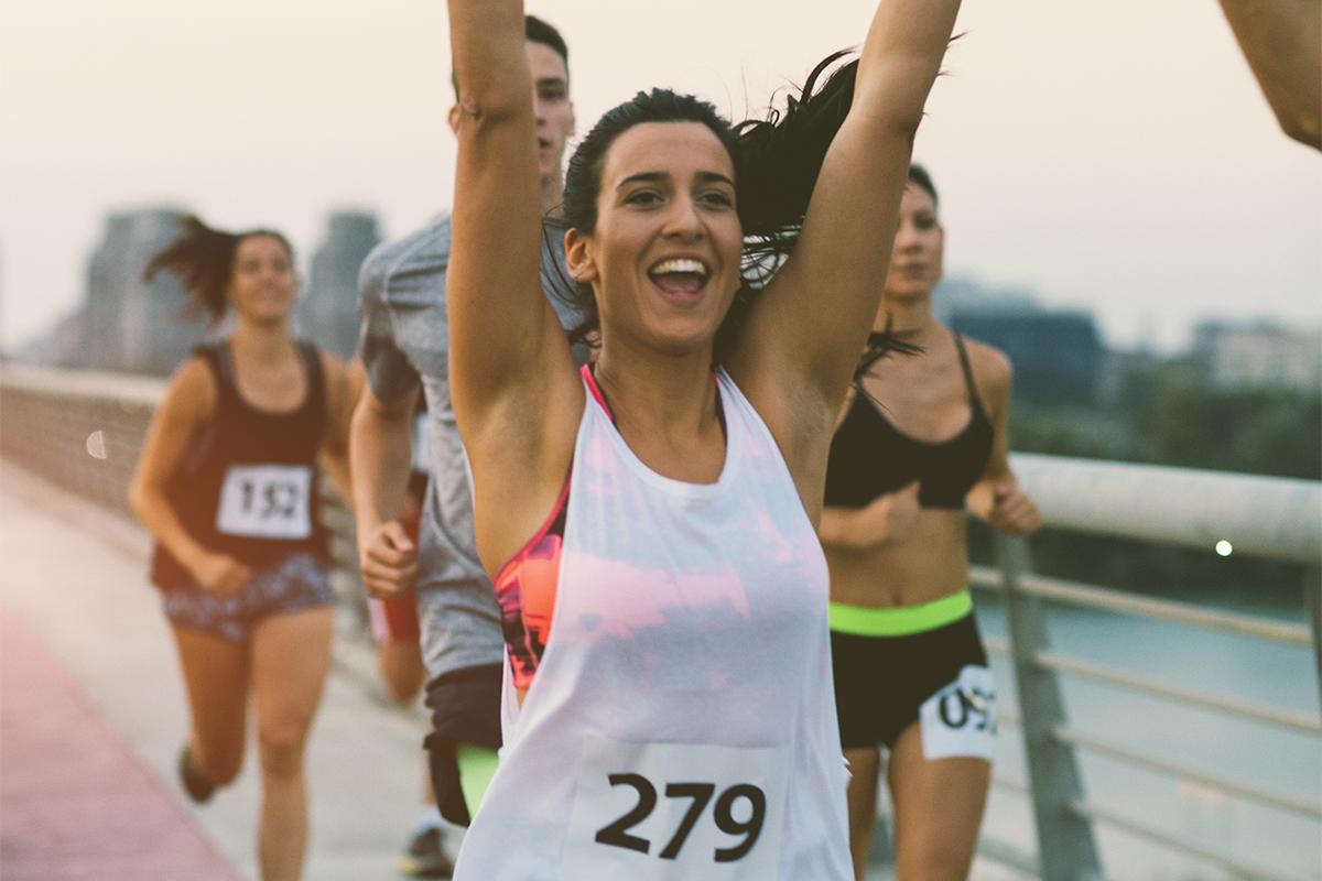 Women's running pace