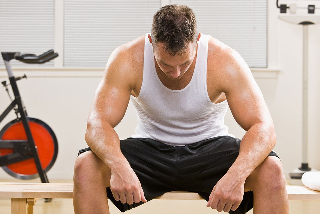 Man resting for exercise recovery