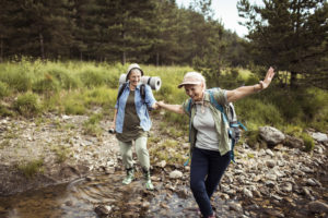 Fall prevention training helps seniors stay active.
