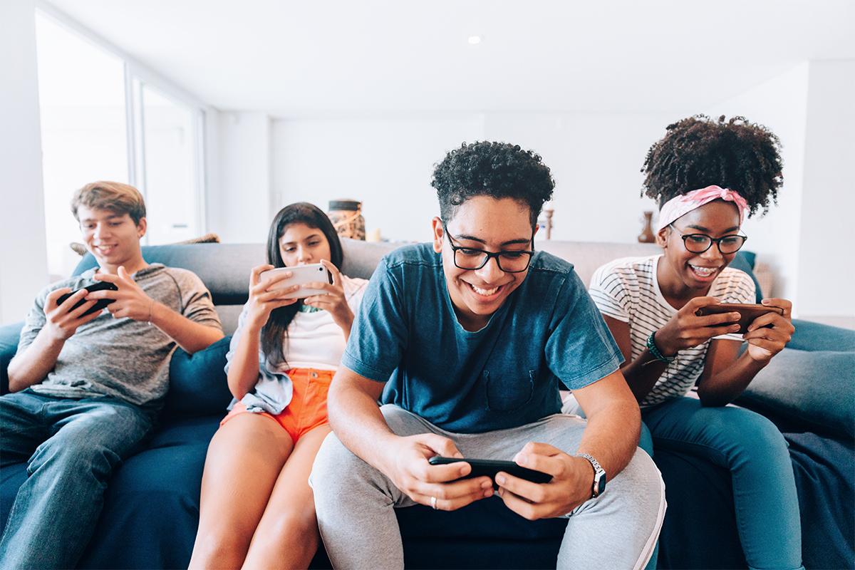 Social media influence on group of kids