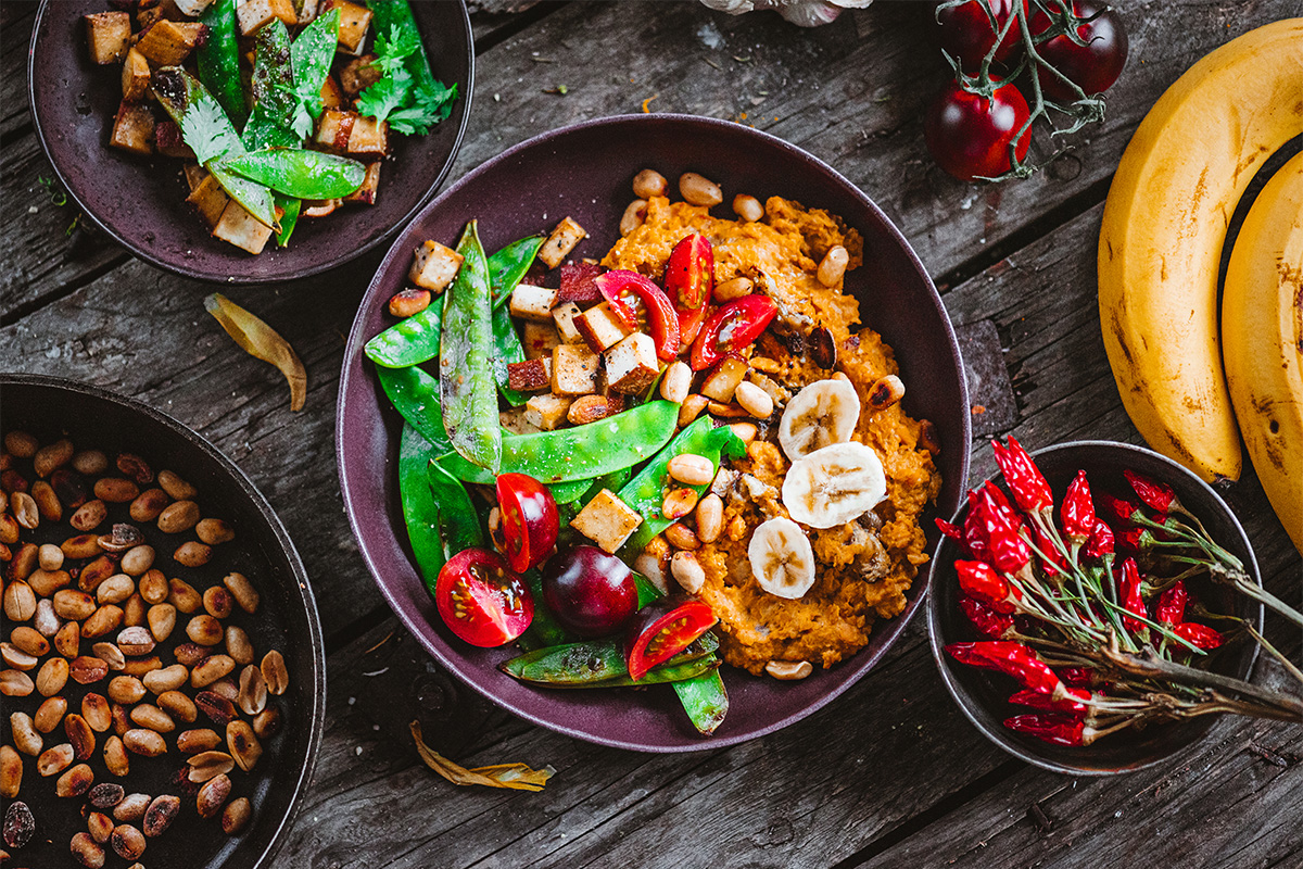 Food from plant-based diets