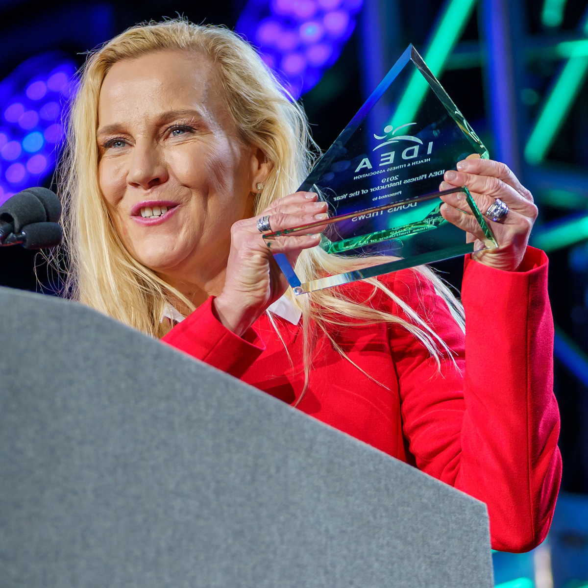 Doris Thews Award for IDEA Fitness Instructor of the Year at the 2019 IDEA World Convention