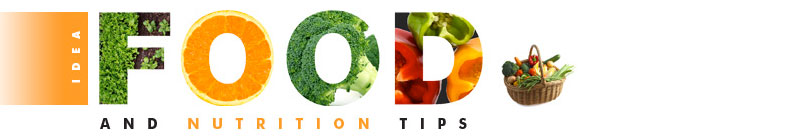 IDEA Food and Nutrition Tips Heading