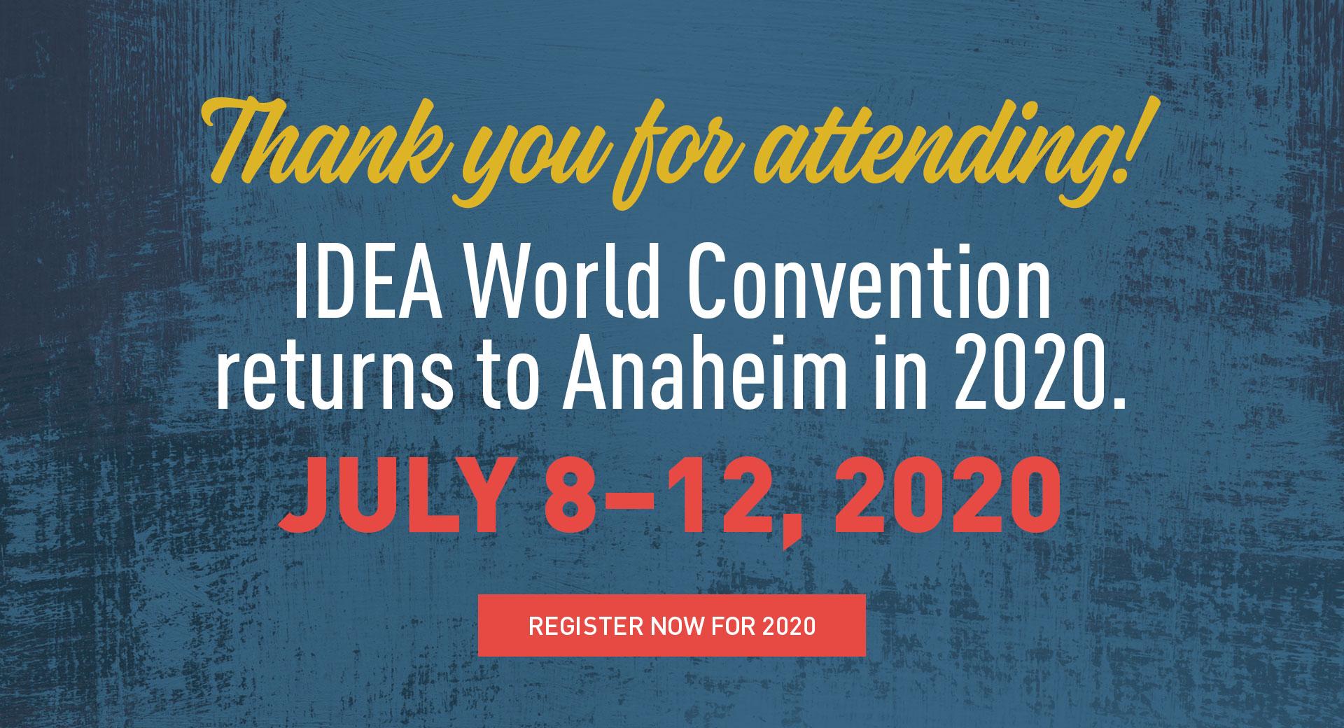 2020 IDEA® World Convention