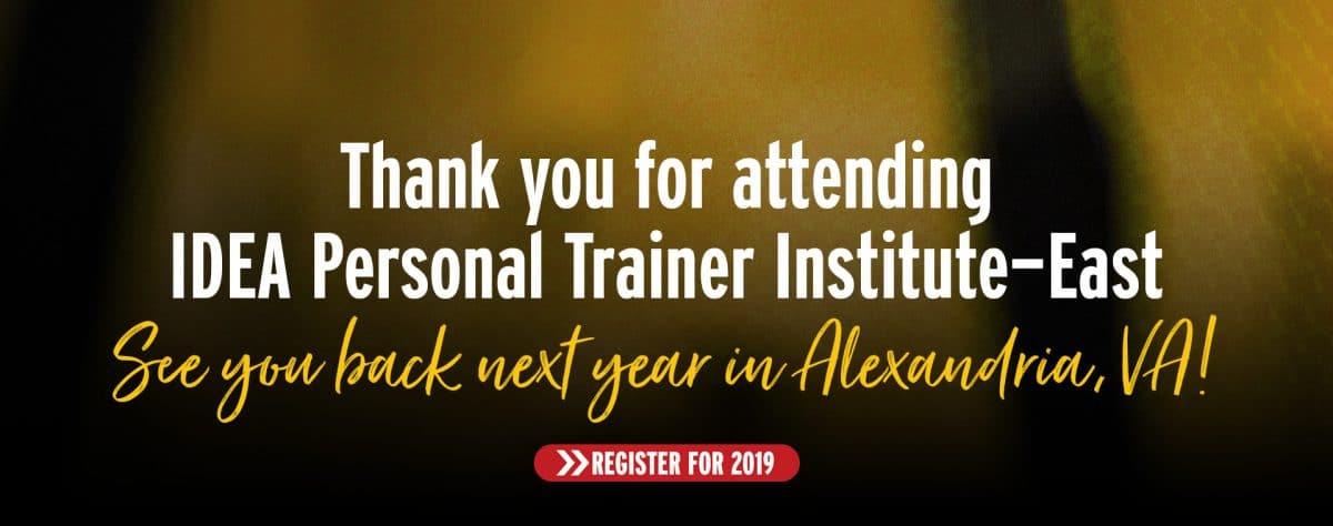 2019 idea personal trainer institute east idea personal trainer institute east 2019 1betcityfo Gallery